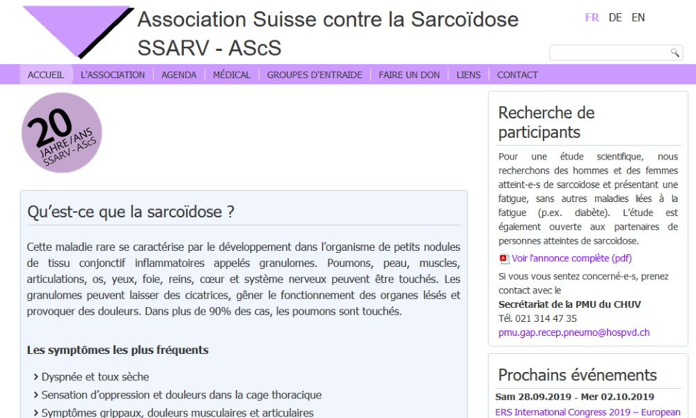 Association Suisse contre la Sarcoïdose